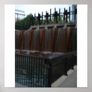 運河、キャンバスのインディアナポリスの端、 ポスター