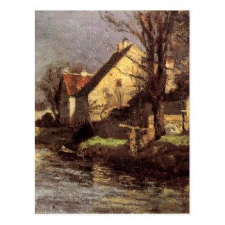 運河、T.C. Steele著Schlessheim ポストカード
