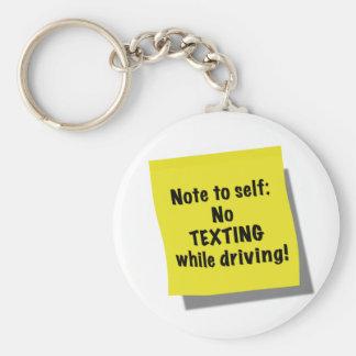 運転している間自己、メールや文字を打つ無しへのノート キーホルダー