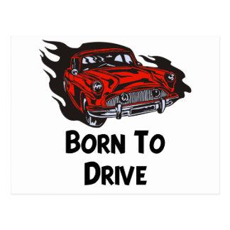 運転するために生まれて下さい ポストカード