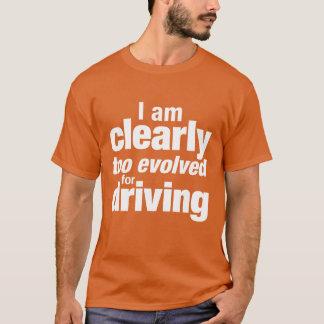 """""""運転のために余りに展開させて"""" Tシャツ"""