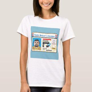 運転免許証の人写真付き身分証明書のベクトル Tシャツ