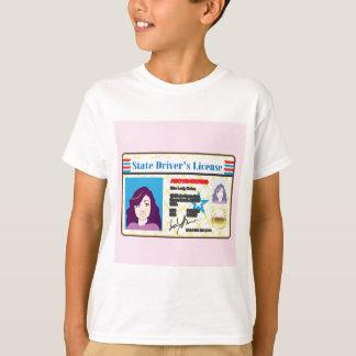運転免許証の女性写真付き身分証明書のベクトル Tシャツ