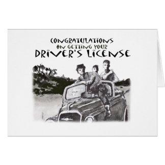 運転免許試験の合格、お祝い カード