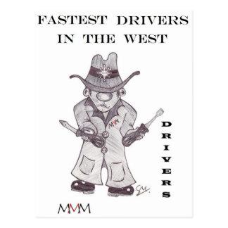 運転者カウボーイ-西の最も速い運転者 ポストカード