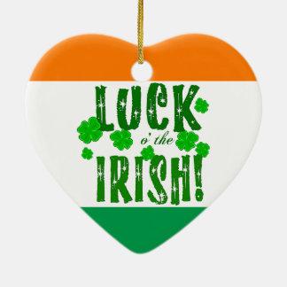 運oアイルランドの緑の幸運なクローバーのオーナメント セラミックオーナメント