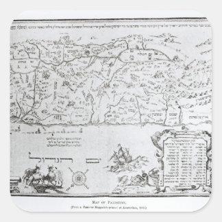 過ぎ越しの祝いのHaggadahからのパレスチナの地図、 スクエアシール
