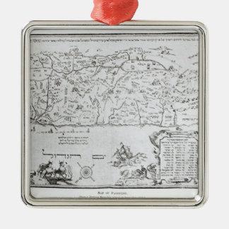 過ぎ越しの祝いのHaggadahからのパレスチナの地図、 メタルオーナメント