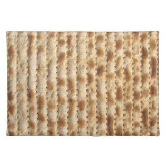 過ぎ越しの祝いのsederのためにユダヤのMatzahのランチョンマット- ランチョンマット