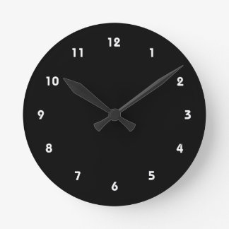 過保護のパパの黒の子供 ラウンド壁時計