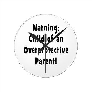 過保護親黒の子供 壁時計
