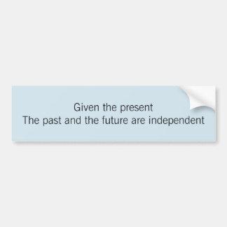 過去および未来 バンパーステッカー