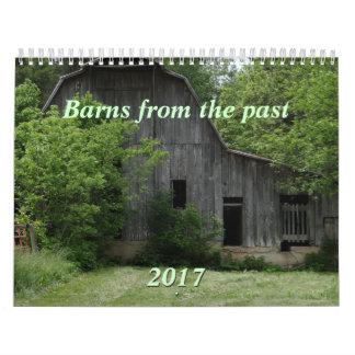 過去の2017の納屋は年を変えるカレンダーできます カレンダー