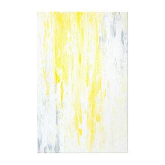 「過少見積りされた」灰色および黄色の抽象美術 キャンバスプリント