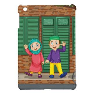 道のイスラム教のカップル iPad MINIケース