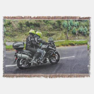 道のオートバイのライダー スローブランケット