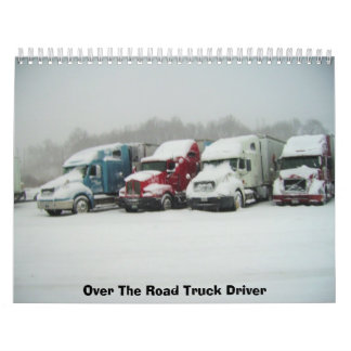 道のトラックの運転手に カレンダー