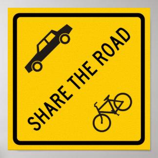 道のハイウェーの印を共有して下さい ポスター
