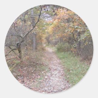 道のペンシルバニアのアパラチア山脈の秋 ラウンドシール