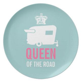 道のヴィンテージのキャンピングカーの女王 プレート
