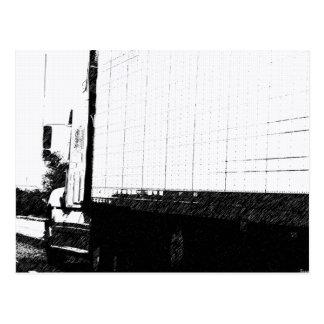 道の下のトラック運送 ポストカード