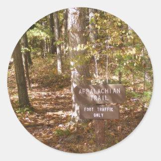 道の印のペンシルバニアのアパラチア山脈の秋 ラウンドシール