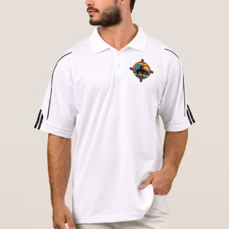 道の原産のアメリカインディアンの端 ポロシャツ