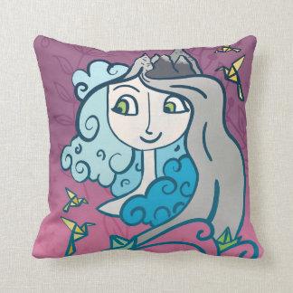 道の女の子の枕 クッション