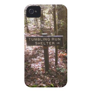 道の避難所のペンシルバニアのアパラチア山脈の秋 iPhone 4 Case-Mate ケース