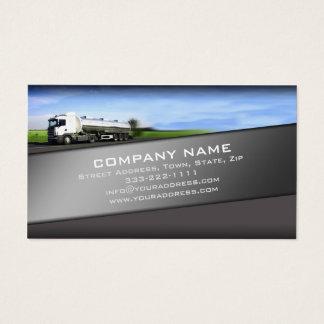 道の銀の勾配カードのトラック 名刺