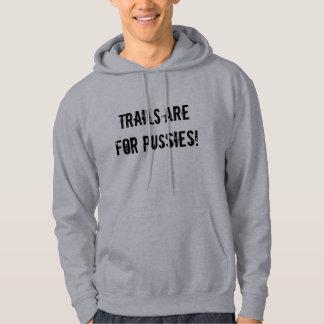 """""""道は猫のためです! """"Sledders.comの灰色のフード付きスウェットシャツ パーカ"""