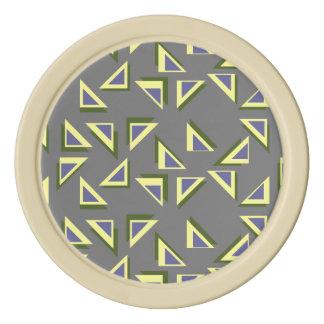 道化の三角形のポーカー用のチップ カジノチップ