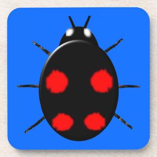 道化師のてんとう虫のコルクのコースター コースター
