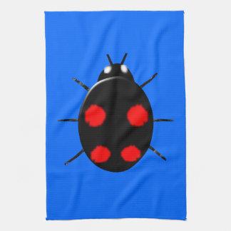 道化師のてんとう虫の台所タオル キッチンタオル
