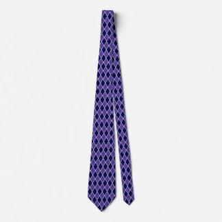 道化師のダイヤモンドのデザインの紫色の青い色 ネクタイ