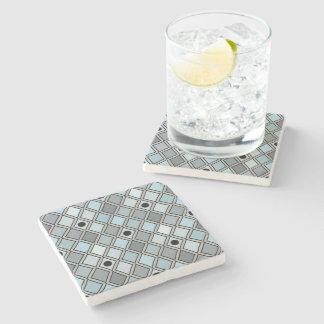 道化師のダイヤモンドパターン青 ストーンコースター