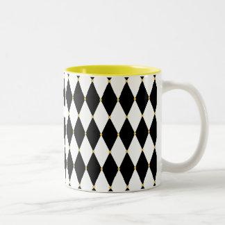 道化師のダイヤモンドパターン ツートーンマグカップ