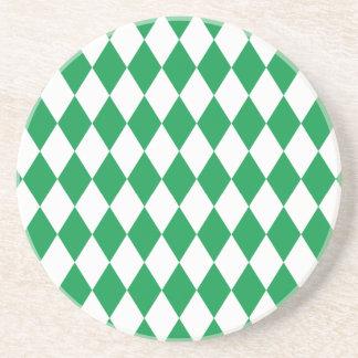 道化師の緑および白 コースター