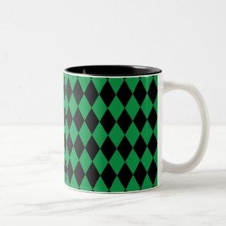 道化師の緑および黒 ツートーンマグカップ