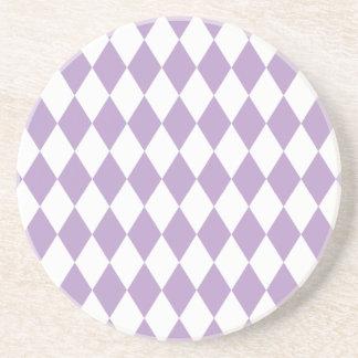 道化師の薄紫および白 コースター