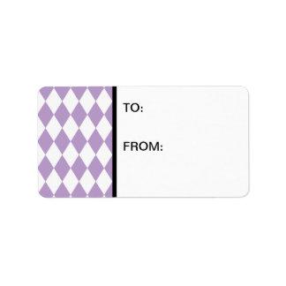道化師の薄紫および白 ラベル