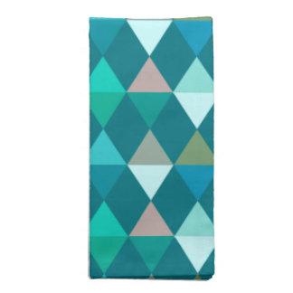 道化師/ダイヤモンドパターン-ティール(緑がかった色)および水 ナプキンクロス