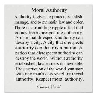 道徳的権限 ポスター