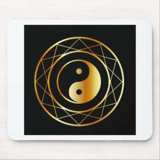 道教のDaoismの金記号 マウスパッド