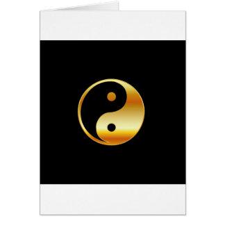 道教のDaoism Yingおよびヤンの記号 カード