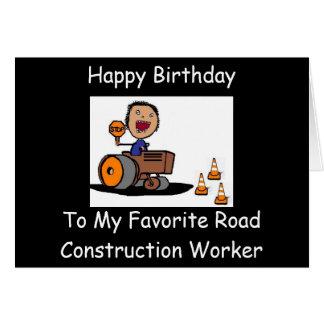 道路工事の労働者 カード