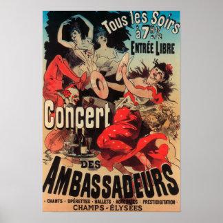 道de Champs-Elyseesのコンサートポスター ポスター