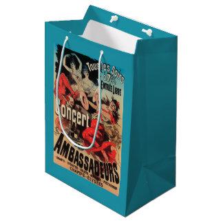 道de Champs-Elyseesのコンサートポスター ミディアムペーパーバッグ