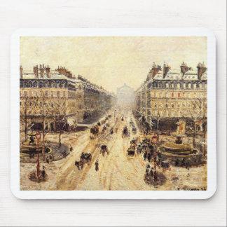道de l'Opera -カミーユ著雪の効果 マウスパッド