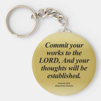 達成の諺の16:3 Abbrev キーホルダー